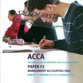 ACCA F2 Management Accounting Revision Kit Kaplan