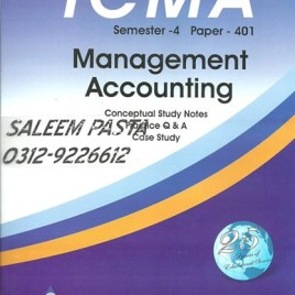 ICMA Semester-4 Management Accounting Waheed