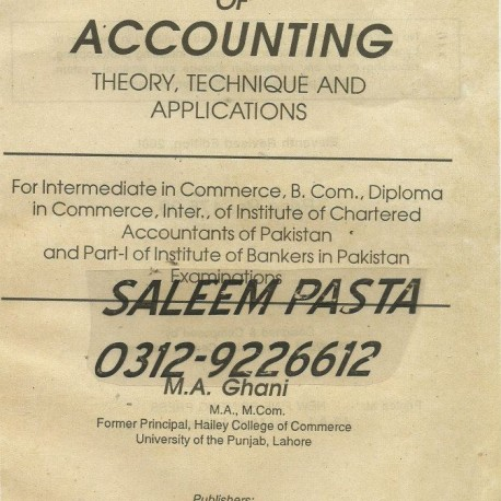 M.a of accounting ghani principles by pdf