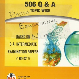Auditing 506 Q & A Topic Wise PAC