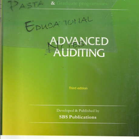 advanced auditing Introduce students to the theoretical foundations of auditing and auditing profession develop the technical skills necessary to assess audit risk and evaluate the financial reporting.