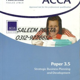 ACCA 3.5 Strategic Business Planning & Development