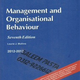 Management & Organisational Behavioural Laurie J. Mullins