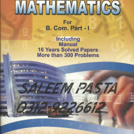 Business Mathematics for B.Com Part-I Shahid Jamal