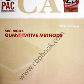 CA 500 MCQs Quantitative Method 1st Edition PAC