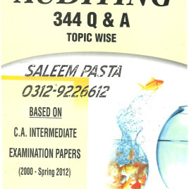 Auditing 344 Q & A Topic Wise PAC