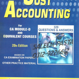 Cost Accounting 20th Edition 329 Q. & A. PAC