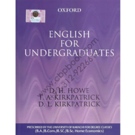 ENGLISH for Undergraduates by D. H. HOWE – OXFORD University Press