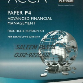 Acca P4 Advanced Financial Management Lsbf Revision Mock Exam March 2016