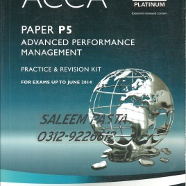 ACCA P5 Advanced Perfor. Manag. Revision Kit Bpp