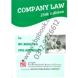 Company Law 25th Edition PAC Ishfaq