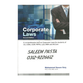 Corporate Laws Muhammad Naeem Baig