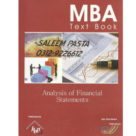 MBA M.COM, MS Text Book Analysis of Financial Statements IBP Publication