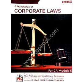 A Handbook of Corporate Laws First Edition PAC