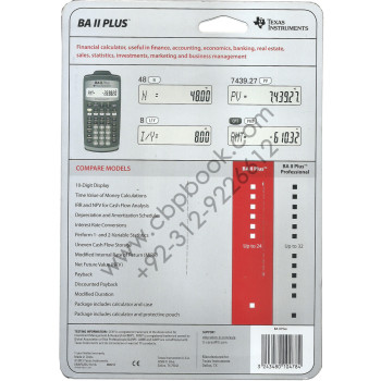 Texas Instruments Financial Calculator ba 2 plus approved for use on cfa and garp frm(1)