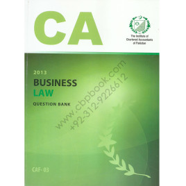 CA CAF 03 Business Law Question Bank ICAP