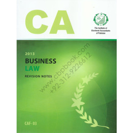 CA CAF 03 Business Law Revision Notes ICAP