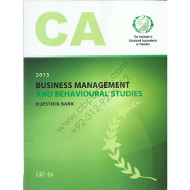 CA CAF 04 Business Management & Behavioural Studies Question Bank ICAP