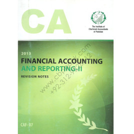 CA CAF 07 Financial Accounting & Reporting-II Revision Notes ICAP
