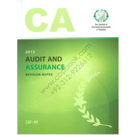 CA CAF 09 Audit and Assurance Revision Notes ICAP