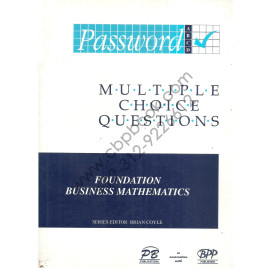 Foundation Business Mathematics Brian Coyle Multiple Choice Questions