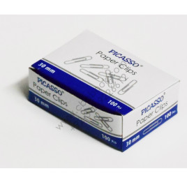 Picasso Paper Clips 30mm 100 pcs Shahsons