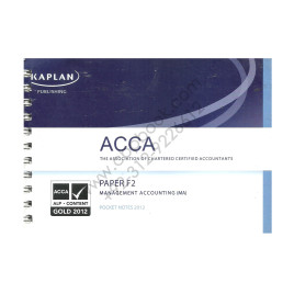 ACCA Paper F2 Management Accounting Pocket Notes 2012 Kaplan