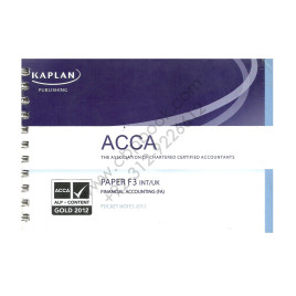 ACCA Paper F3 Financial Accounting Pocket Notes 2012 Kaplan