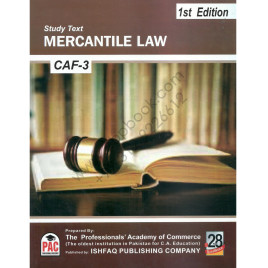 CA CAF 03 Mercantile Law Study Text 1st Edition 2015 Ishfaq Publishing PAC
