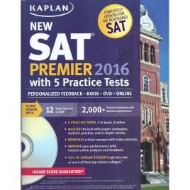 Kaplan New SAT Premier 2016 with 5 Practice Tests and DVD
