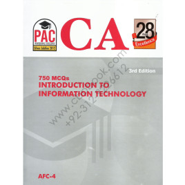 CA AFC 4 750 MCQs Introduction to Information Technology 3rd Edition PAC