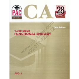 CA AFC 1 1000 MCQs Functional English 3rd Edition PAC