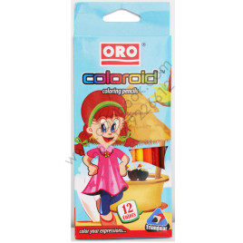 12 Colors ORO COLOROID Coloring Pencils