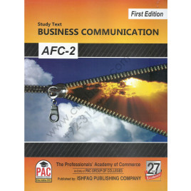 CA AFC 2 Business Communication Study Text First Edtion by PAC