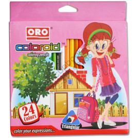 24 Colors ORO COLOROID Coloring Pencils