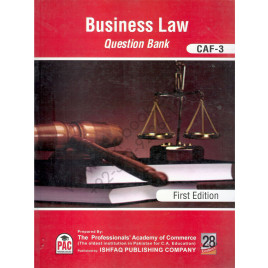 CA CAF 3 Business Law Question Bank First Edition by PAC