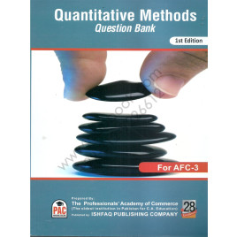 CA AFC 3 Quantitative Methods Question Bank 1st Edition  by PAC