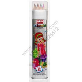ORO 12 Colors Metal Case COLOROID Coloring Pencils