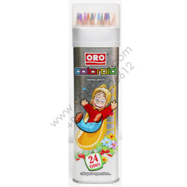 ORO 24 Colors Metal Case COLOROID Coloring Pencils