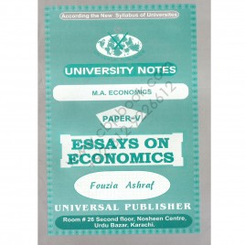 University Notes M. A. Economics Paper V Essays On Economics