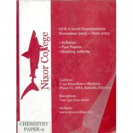 GCE A Level Examinations November 2002- June 2013 Chemistry paper 4