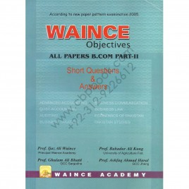 Waince Objectives All Papers B. Com Part II