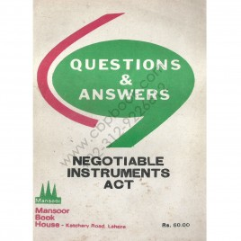 Questions & Answers Chapter wise Series Negotiable Instrument Act (XXVI Of 1881)