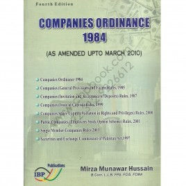 Companies Ordinance 1984 (As Assumed Upto March 2010) By Mirza Munawar Hussain