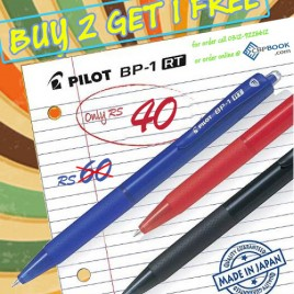 Buy 2 Get 1 Free!! Pilot BP 1 RT Ball Point Pen Made In Japan