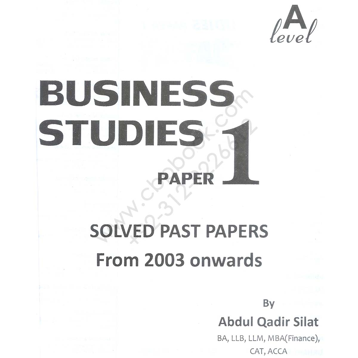 a level business studies paper 1 solved past papers by