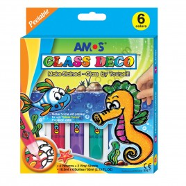 Amos Glass Deco 6 Colors Made In Korea