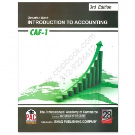 CA CAF 1 Introduction To Accounting Solved Topicwise Past Papers 3rd Edition PAC