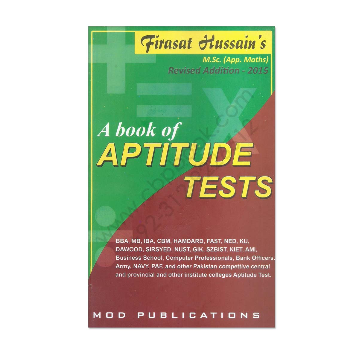 a book of aptitude test by firasat hussain mod publications a book of aptitude test