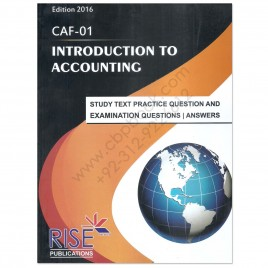 CA CAF 1 Introduction To Accounting 2016 Rise Publications